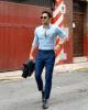 Cảm hứng phối quần trouser tối màu giúp chàng cá tính